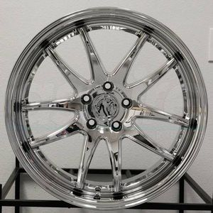 18x9.5/10.5 new chrome rims set 5x114.3 for Sale in Hayward, CA
