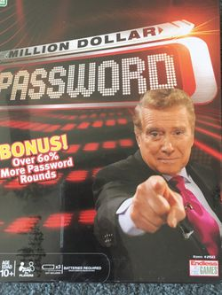 NEW Million Dollar Password Board Game - Target Exclusive With More Cards for Sale in Cupertino,  CA