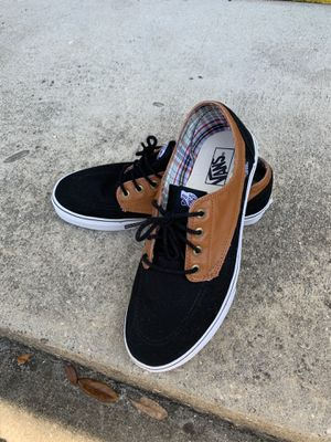 Vans 2 Tone Black Canvas and leather for Sale in Jacksonville, FL
