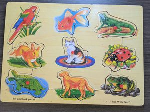 """Lift & Look Pieces - """"Fun With Pets"""" Wooden Puzzle for Sale in Vista, CA"""
