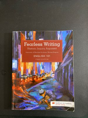 Fearless writing english 101 UMD for Sale in Clarksburg, MD