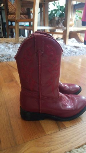 Girls size 13 Red Cowgirl Boots for Sale in Hamilton, OH