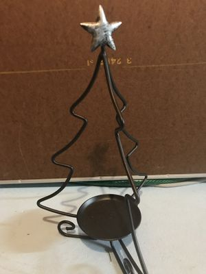 Longaberger Wr Iron Christmas Tree Candle Holder for Sale in Canton, MI