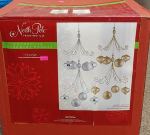 New North Pole Trading Co Silver Chandelier Ornament Hanger for Sale in Burlington, NC