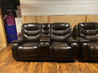 Leather Reclining loveseats for Sale in Smoke Rise, GA