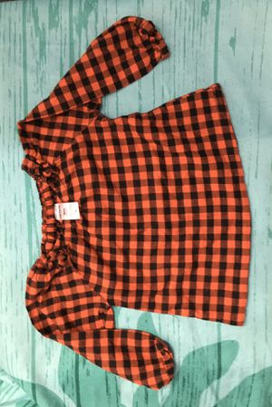 NEW Infant Baby Girl Christmas Holiday Flannel Top 9 Months for Sale in Garden Grove, CA