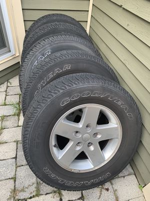 Jeep Goodyear wrangler wheels/rims for Sale in Highland Beach, MD