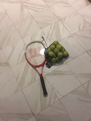 Tennis racket and ammo for Sale in Bronx, NY