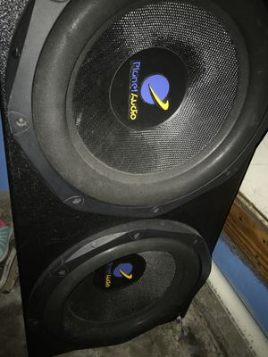 "15"" planet audio and amp for Sale in Garland, TX"