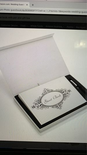 "Wedding Guest Book Album Photo 9"" X 6"" guestbook with Pen and Gift Box for Sale in South Miami, FL"