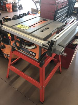 """Ridgid R4517 10"""" Corded Compact Table Saw with Sand. for Sale in Woodstock, GA"""
