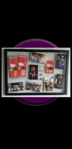 Original Vintage Woodstock 94 Tickets VIP Backstage Pass & Coins Framed for Sale in Charlotte, NC