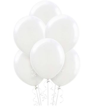 One dozen white latex balloons with helium for Sale in Baldwin Park, CA