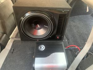 "270$ 1 Like new Rockford p3 12"" stable 1ohm and amp Memphis PR500.1 500rms 1ohm for Sale in Phoenix, AZ"