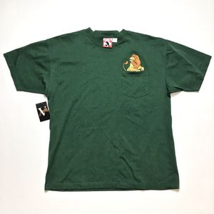 Disney Lion King Mufasa Green Pocket Tee Shirt Size XL Embroidered Vintage Rare for Sale in Tracy, CA