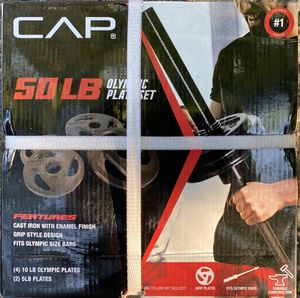 CAP 50 lbs IRON WEIGHT PLATES for Sale in Wilson, NC