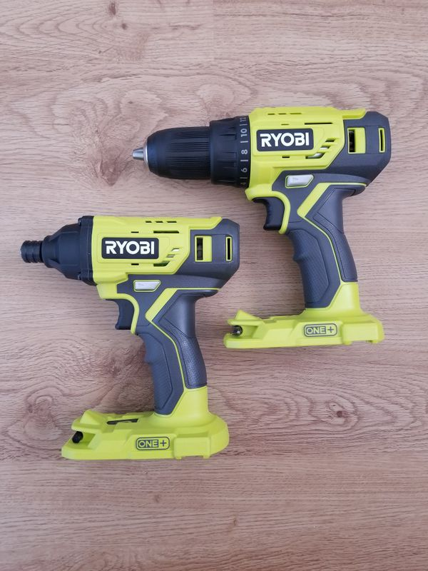Ryobi drill and impact. Battery, charger