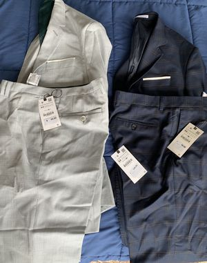 Lot of 2 - Men's BRAND NEW ZARA Suits sz 44R, 34x34 Pants for Sale for sale  New York, NY