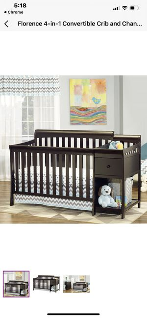 Crib with changing table attached. for Sale in Denver, CO