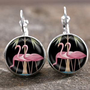 Key West Pink Flamingo Cabochon Earrings *See My Other 200 Items* for Sale in Palm Beach Gardens, FL