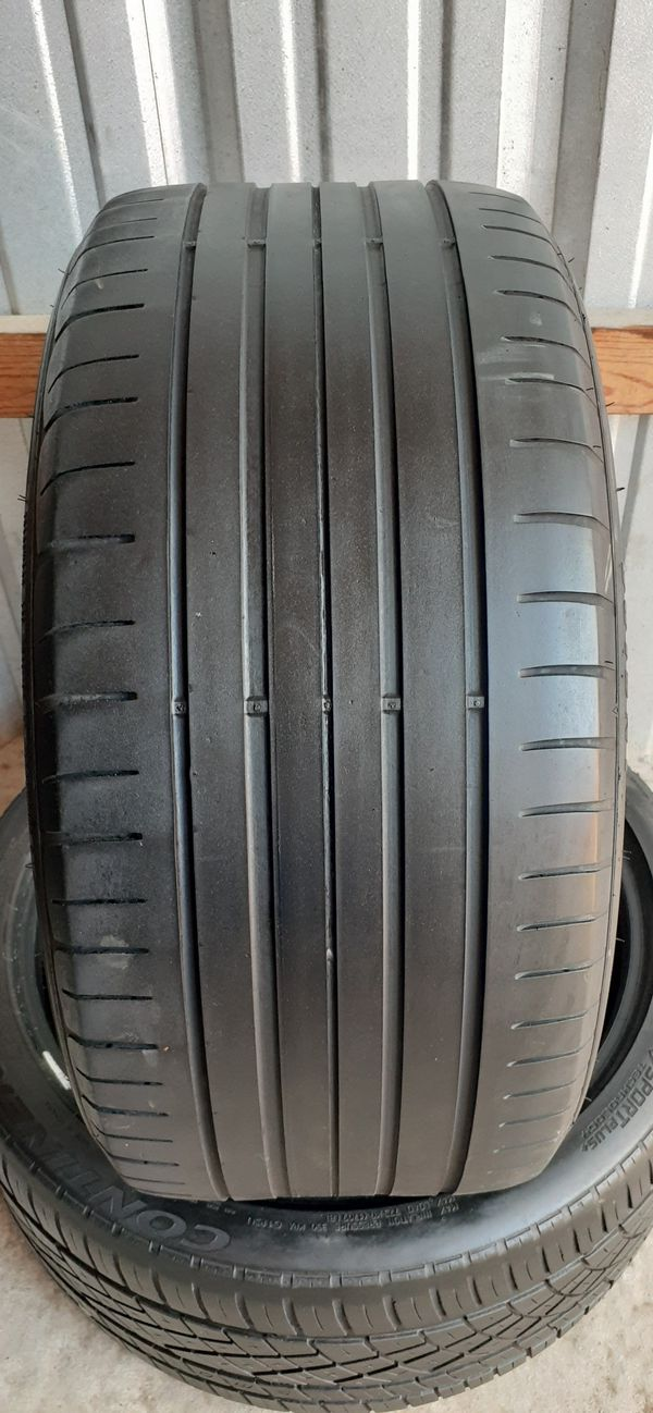 2 tires 265 35 20 Goodyear & continental