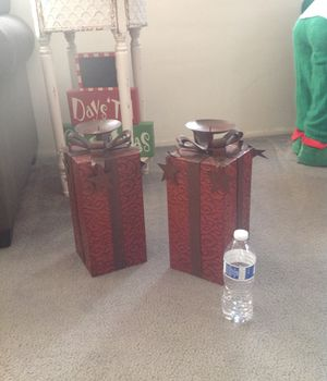 Christmas present candle holders for Sale in Long Beach, CA