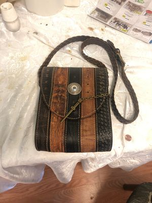 Retro leather bag made from vintage belts for Sale in Los Angeles, CA