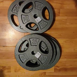 New 25lb Weight Plates 1 Inch Hole for Sale in Tacoma, WA