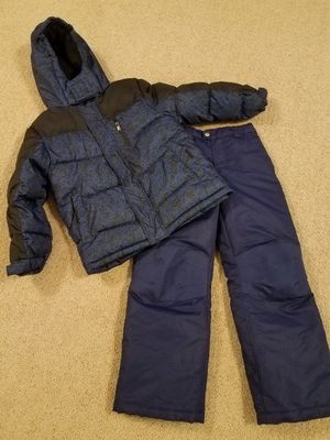 Snow clothes size 8 kids snow pants Motel coat jacket new for Sale in Gilbert, AZ