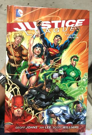 Justice League Origin Graphic Novel & Justice League WAR BLU-RAY & DVD for Sale in Webster, TX