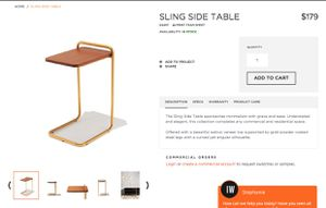 Industry West Side Table for Sale in San Diego, CA