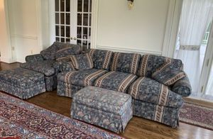 Green floral sofa for Sale in Potomac, MD
