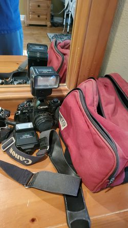 Cannon A1 35 mil old school camera and equipment for Sale in Belton,  TX