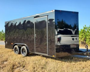 2020 Black Out Cynergy 16' V 8' wide dual 3500 pound axles electric brakes dovetail ramp door for Sale in Chicago, IL
