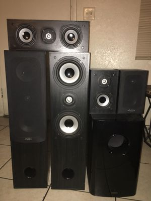 Home Teather •The Audioline speakers •The subwoofer ONKYO for Sale in Phoenix, AZ