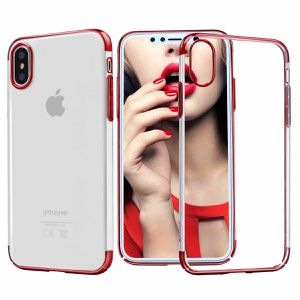 Case For iPhone 8 7 6s Plus Shockproof Plating Clear Slim Hybrid Bumper Case Red(iphonebumper-8plus-red-USA ) for Sale in Riverside, CA