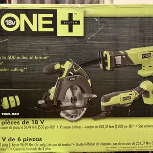 Ryobi 18 Volt ONE+ 6-Tool Combo for Sale in Kissimmee, FL