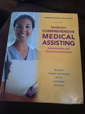 Pearson comprehensive medical assistant second edition for Sale in Los Angeles, CA