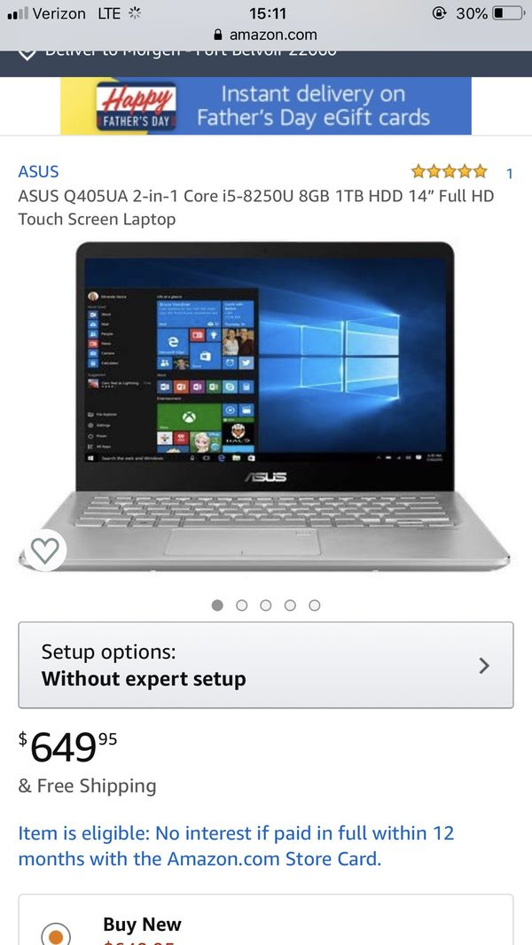 Asus 2 in 1 laptop