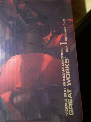 Mobile suit gundam unicorn box 1 ep 1 thru 3 for Sale in Riverside, CA