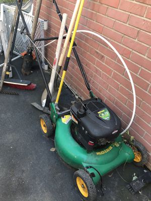 Selling this 3 item I'm asking $50 for each lawn mower and 60 for the electric trimmer for Sale in Everett, MA