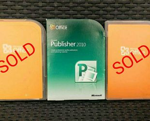 "Genuine Microsoft Publisher 2010 & Office ""Home and Student"" Edition for Sale in Redwood City,  CA"
