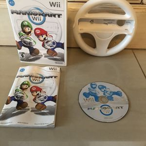 Mario Kart w/ Wheel For Nintendo Wii for Sale in Fort Lauderdale, FL
