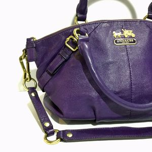 Coach purple leather hobo purse handbag with dust bag. Perfect condition for Sale in Miami, FL