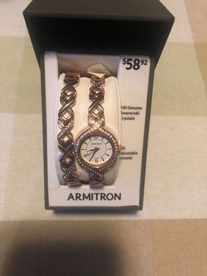 Ladies armatron watch and bracelet 100 Swarovski crystals for Sale in Beacon Falls, CT