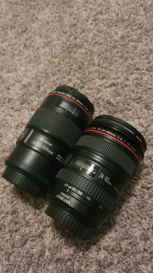 Canon Luxury lenses Trade ins accepted for Sale in San Antonio, TX