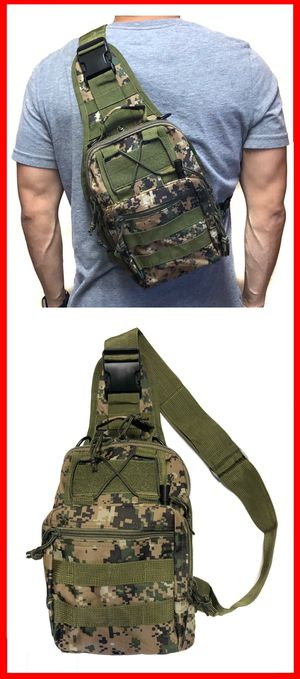 NEW! Camouflage Compact Tactical military style side crossbody sling chest travel work bag gym hiking biking fishing backpack for Sale in Carson, CA