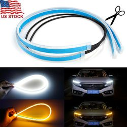 Slim Amber Sequential Flexible LED DRL Turn Signal Strip For Headlights and Universal Use for Sale in Fullerton,  CA