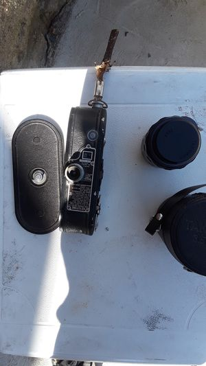 Old camcorder and camera lens for Sale in Pittsburgh, PA