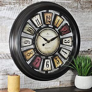 Numeral Plaques Wall Clock Hang Round Time Kitchen Home Office Decor for Sale in Marquette, MI